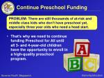 continue preschool funding2