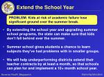 extend the school year