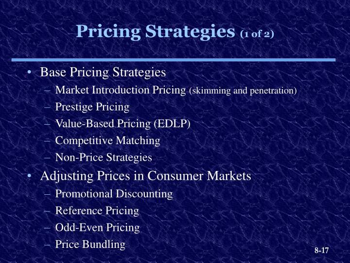 Base Pricing Strategies