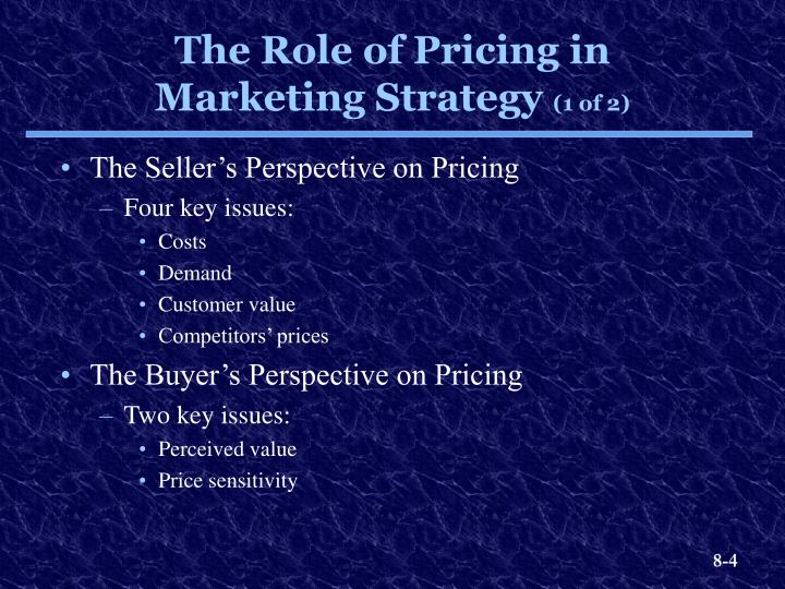 The Seller's Perspective on Pricing