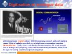 digitisation of analogue data