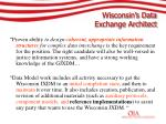 wisconsin s data exchange architect