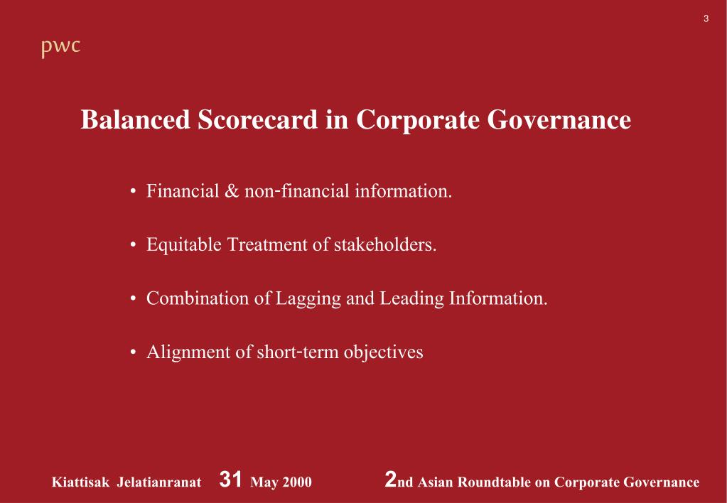 PPT - Board responsibility for internal control and risk management