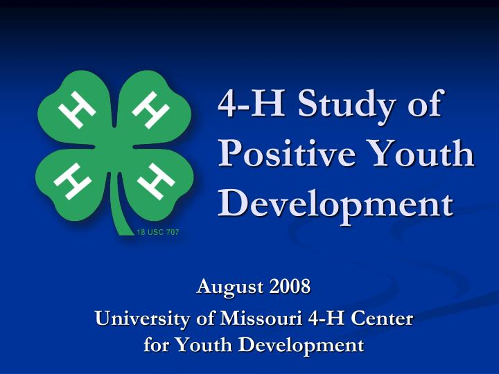 4 h study of positive youth development n.