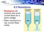 8 2 resistance