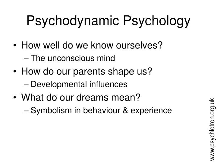 psychodynamic perspective an inside look Trait vs psychodynamic to work on yourself from the inside out call the gm at her other hotel and she would rush right over and look like she has been.