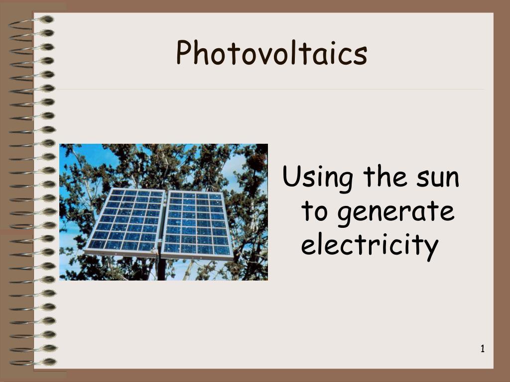 photovoltaics l.