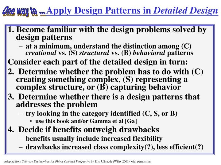 Apply Design Patterns in