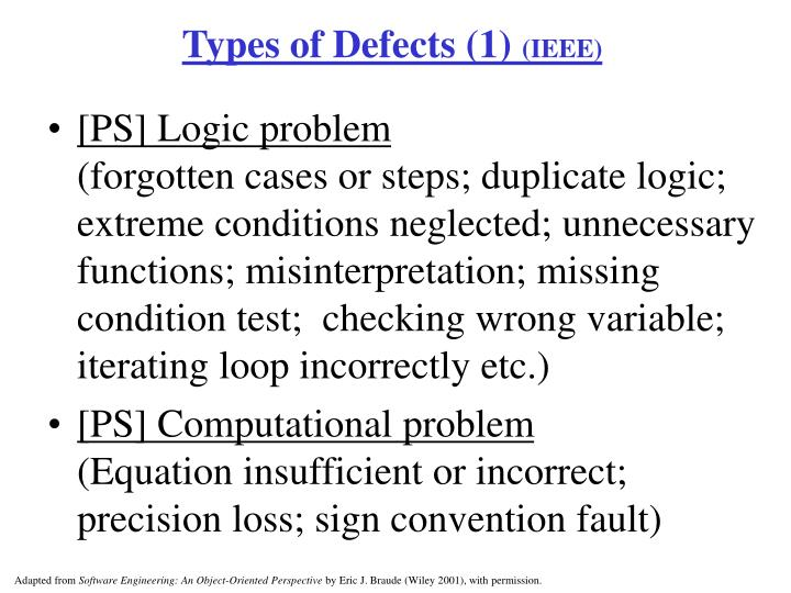 Types of Defects (1)