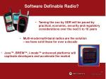 software definable radio