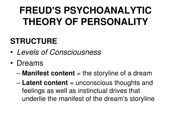 freuds theories of the human unconscious analyzing the dream theory Despite many reincarnations, freud's theory is criticized by many (eg for its perceived sexism) and it there can be little question that he was influenced by earlier thinking regarding the human mind, especially the idea of there being activity within the mind at a conscious and unconscious level yet.