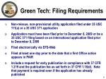 green tech filing requirements