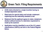 green tech filing requirements6