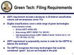 green tech filing requirements7