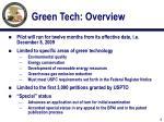 green tech overview