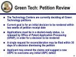 green tech petition review