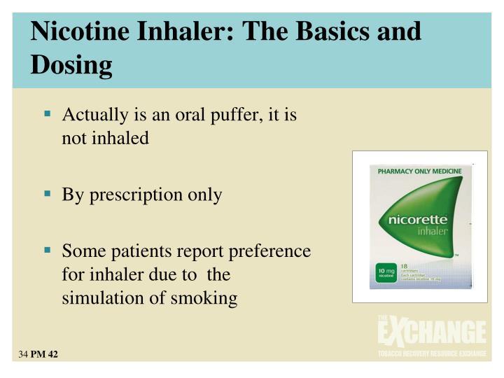 Nicotine Inhaler: The Basics and Dosing