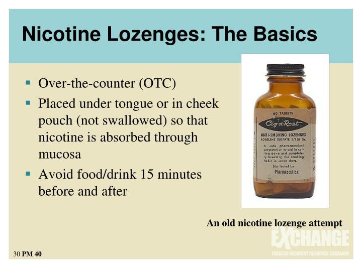 Nicotine Lozenges: The Basics