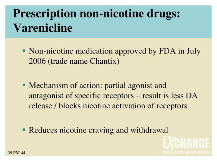 Prescription non-nicotine drugs: