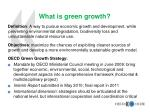 what is green growth