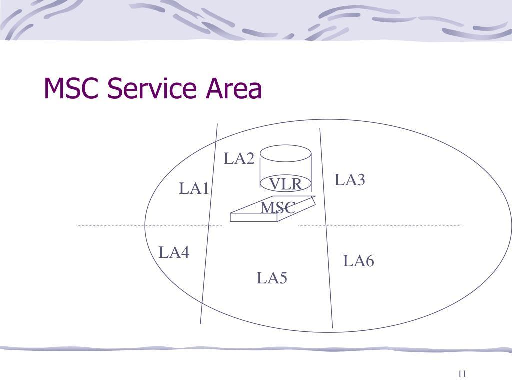 MSC Service Area