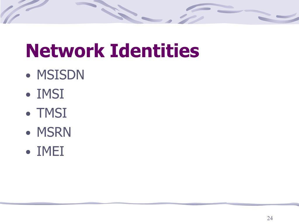 Network Identities