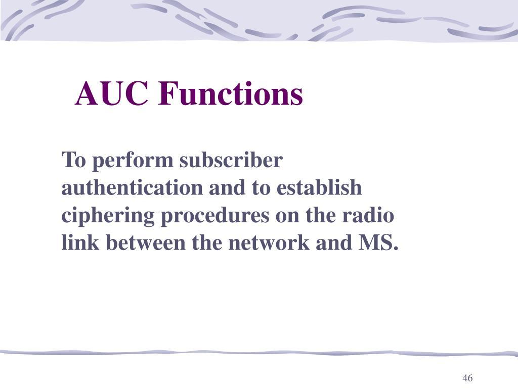 AUC Functions
