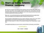 start up loans islamic finance company