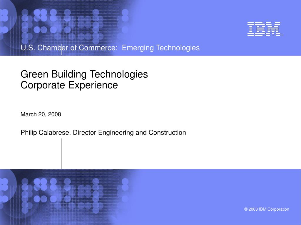 green building technologies corporate experience march 20 2008 l.
