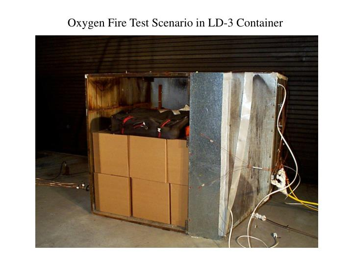 Oxygen Fire Test Scenario in LD-3 Container