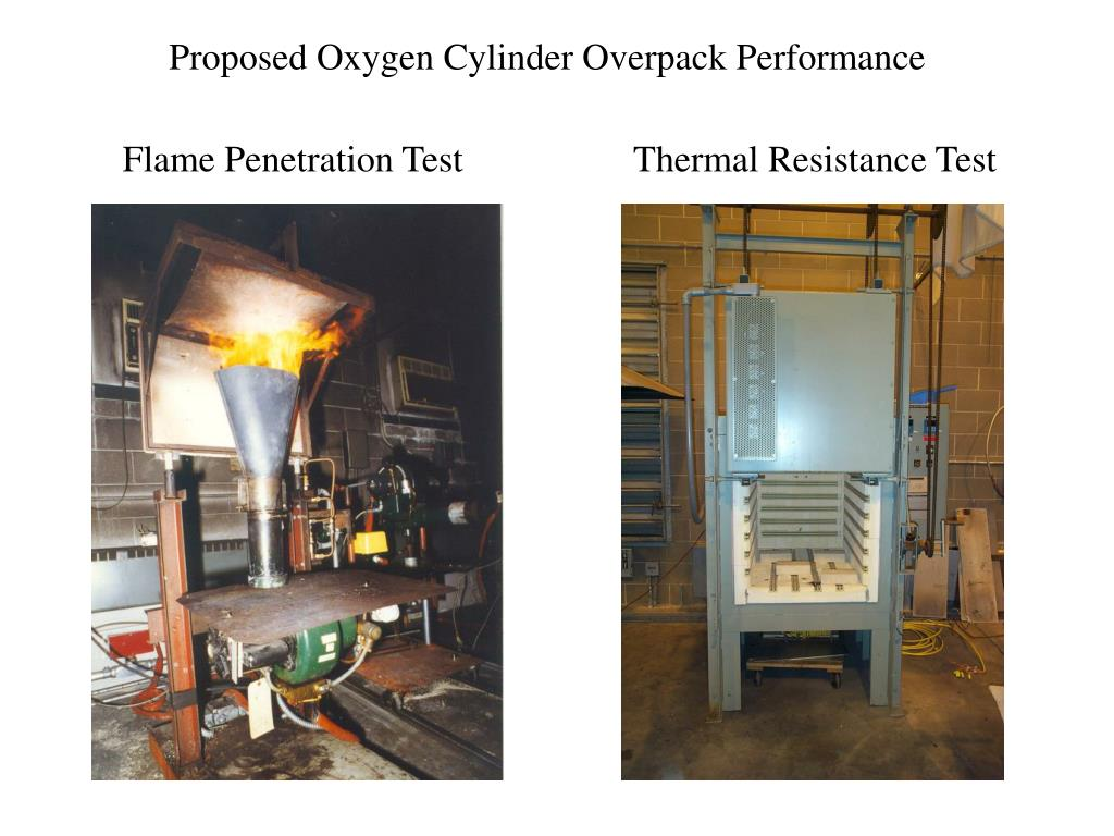 Proposed Oxygen Cylinder Overpack Performance