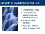 benefits of avoiding bottled h2o