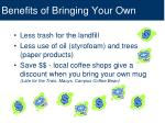 benefits of bringing your own