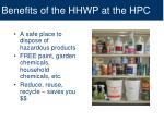 benefits of the hhwp at the hpc
