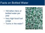 facts on bottled water