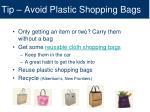 tip avoid plastic shopping bags