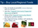 tip buy local regional foods