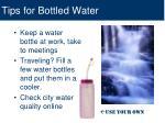 tips for bottled water
