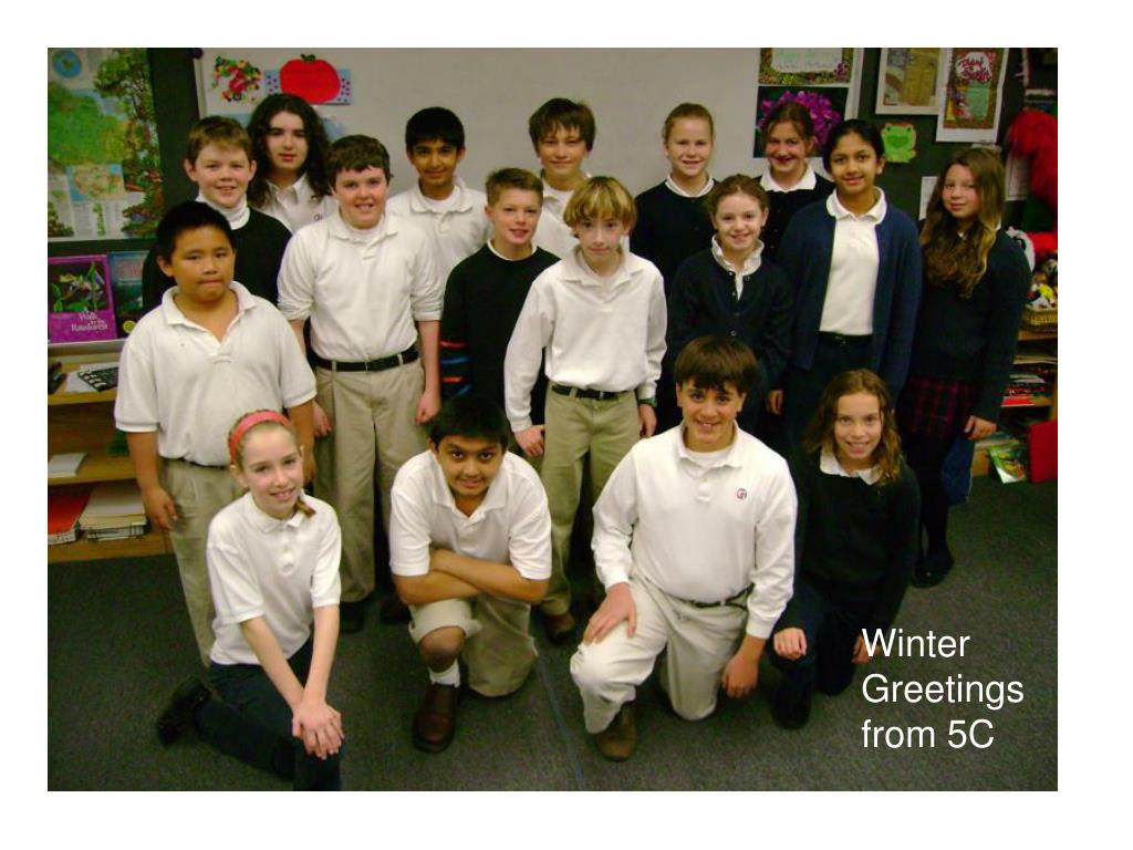 Winter Greetings from 5C