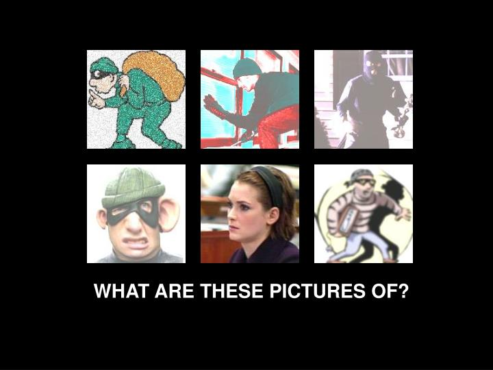WHAT ARE THESE PICTURES OF?