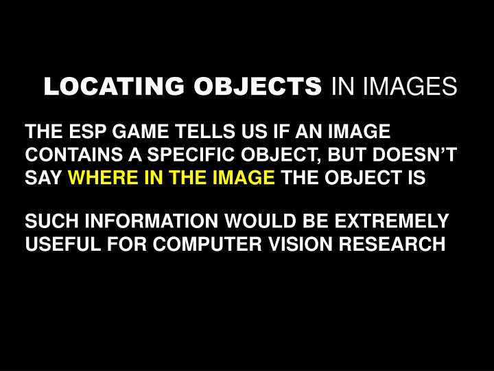 LOCATING OBJECTS