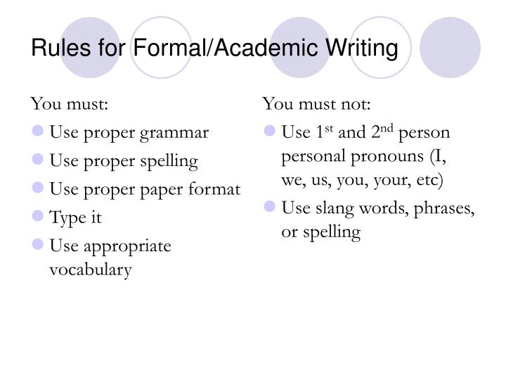 rules for academic writing What is a paragraph paragraphs are comprised of sentences, but not random sentences a paragraph is a group of sentences organized around a central topic in fact, the cardinal rule of paragraph writing is to focus on one idea a solidly written paragraph takes its readers on a clear path, without detours.
