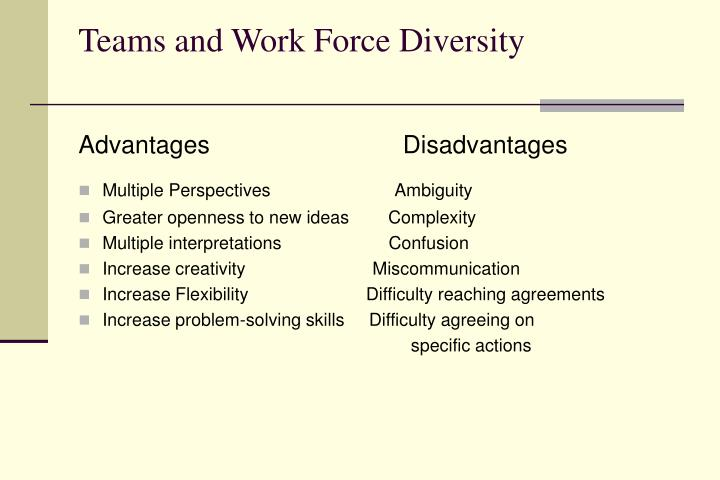 Teams and Work Force Diversity