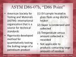 astm d86 07b d86 point