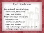 final simulations