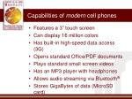 capabilities of modern cell phones