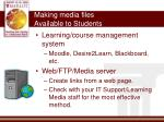 making media files available to students