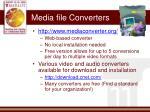 media file converters