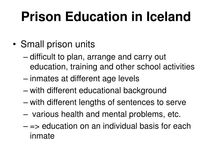 Prison education in iceland2