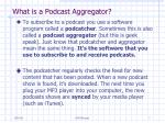 what is a podcast aggregator
